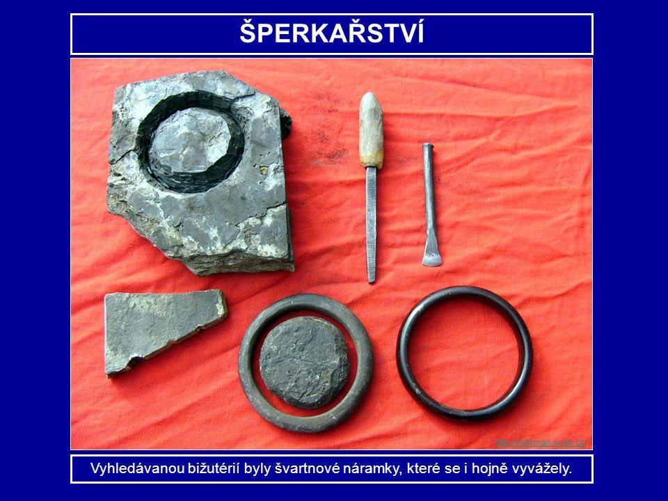 ŠPERKAŘSTVÍ http://keltoman.sweb.cz/ Vyhledávanou bižutérií byly švartnové náramky, které se i hojně vyvážely.