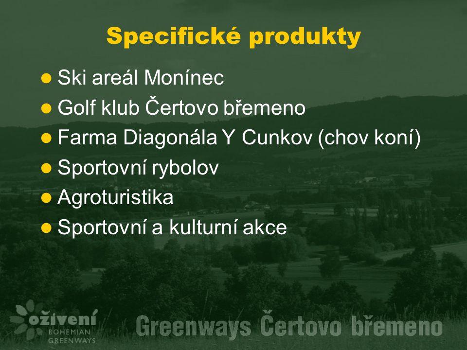 Specifické produkty Ski areál Monínec Golf klub Čertovo břemeno