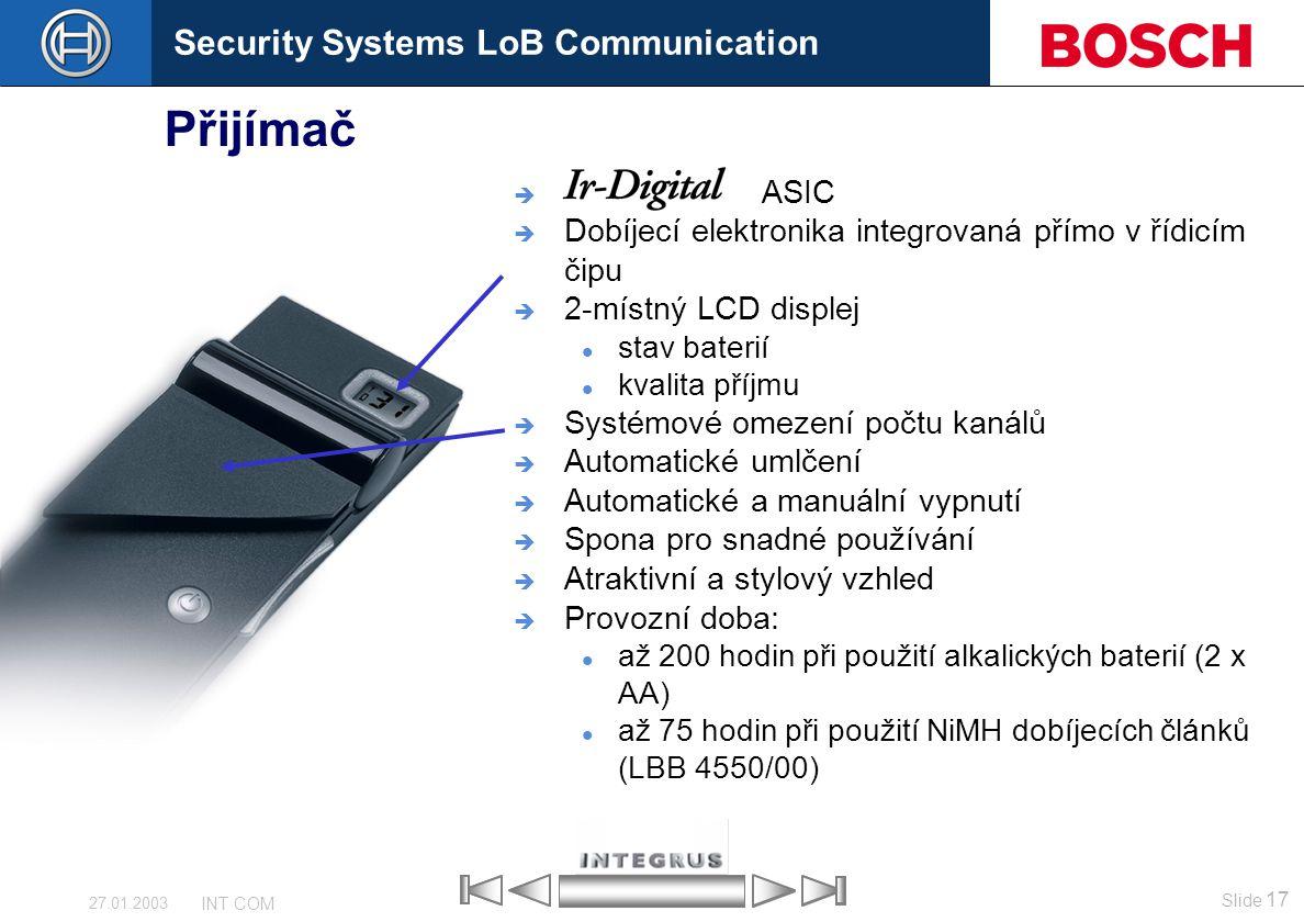Přijímač ASIC Dobíjecí elektronika integrovaná přímo v řídicím čipu