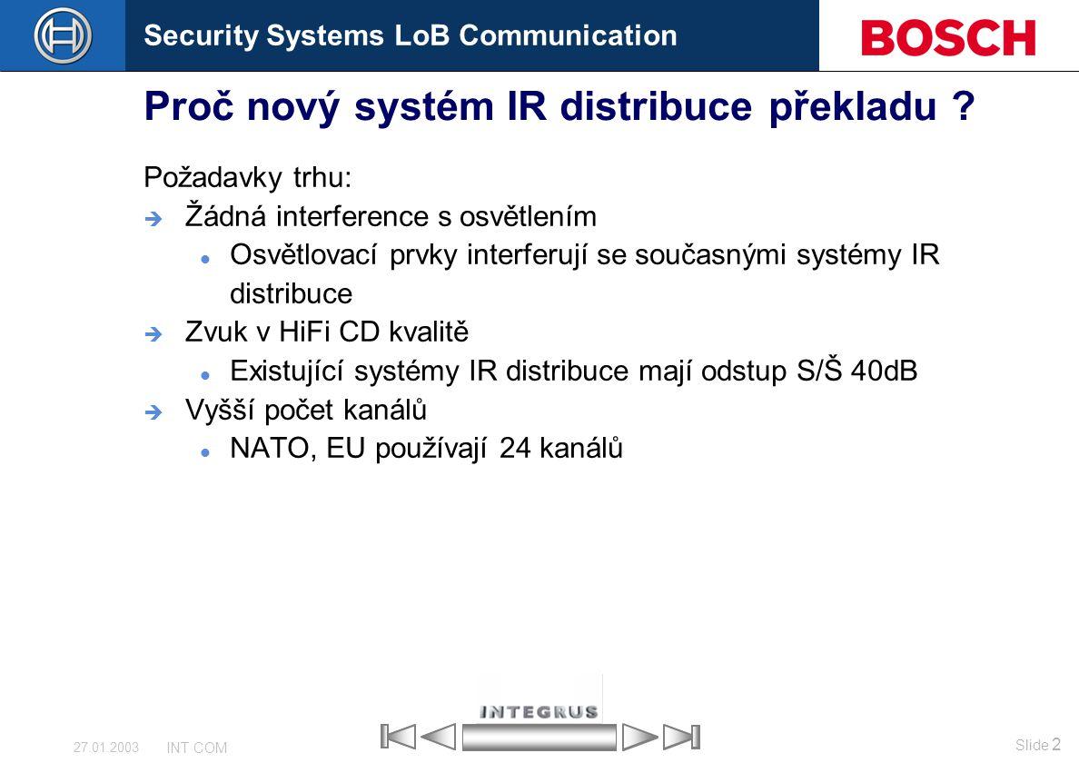 Proč nový systém IR distribuce překladu