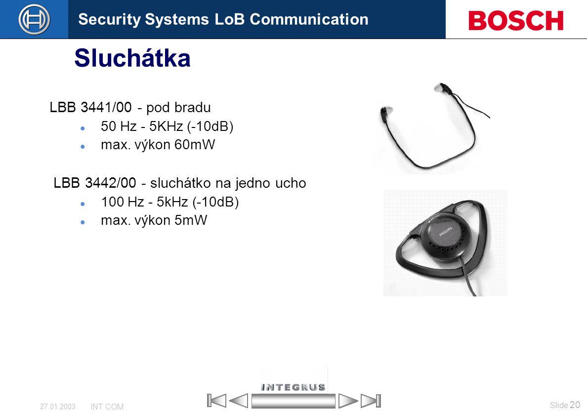 Sluchátka LBB 3441/00 - pod bradu