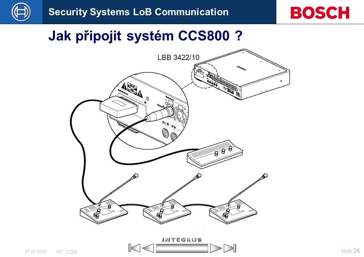 Jak připojit systém CCS800