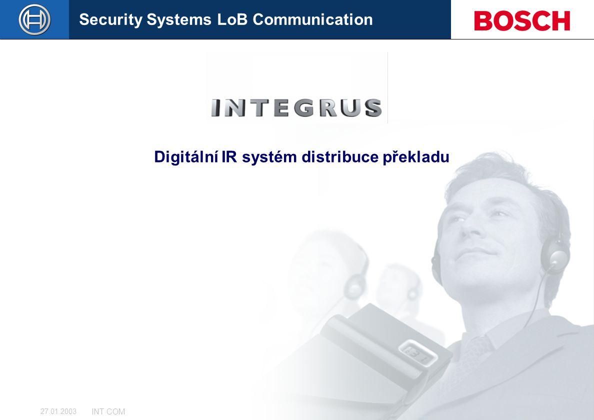 Digitální IR systém distribuce překladu