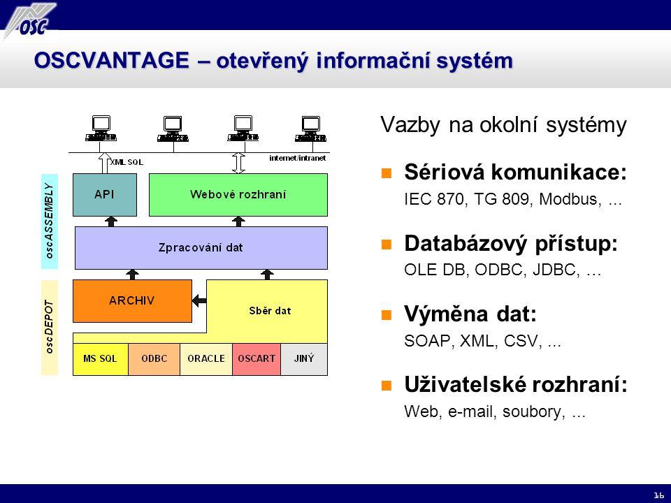 OSCVANTAGE – otevřený informační systém