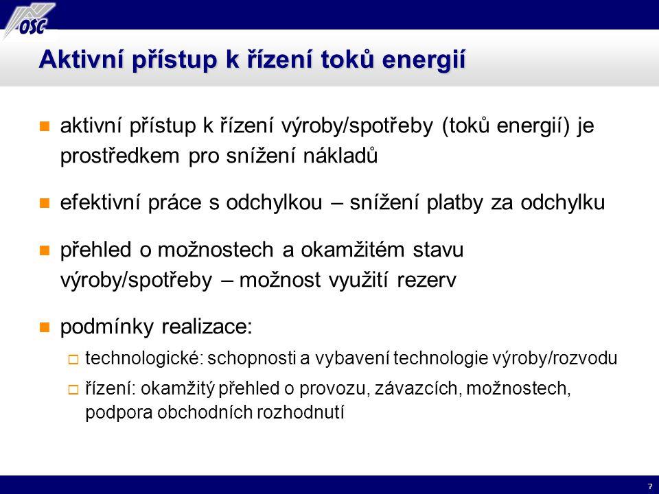 Aktivní přístup k řízení toků energií
