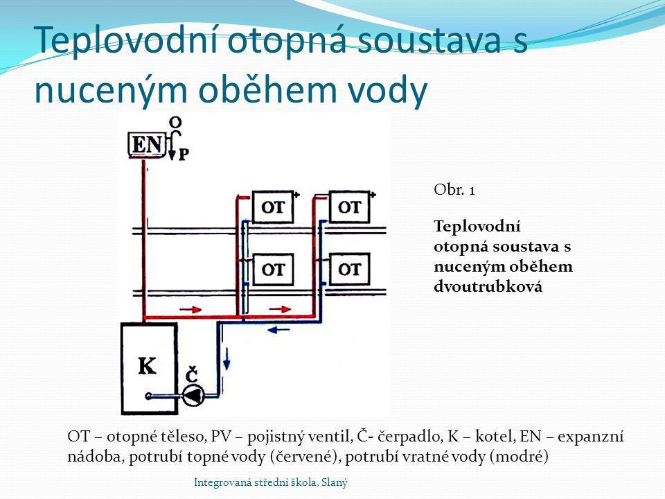 Teplovodní otopná soustava s nuceným oběhem vody