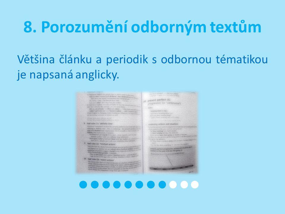 8. Porozumění odborným textům