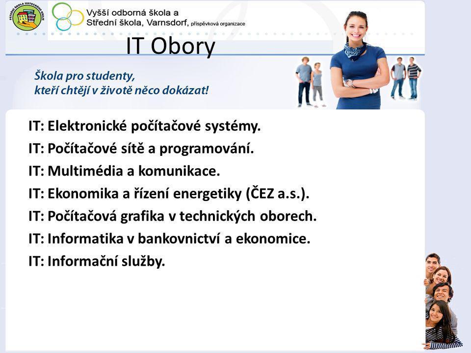 IT Obory IT: Elektronické počítačové systémy.