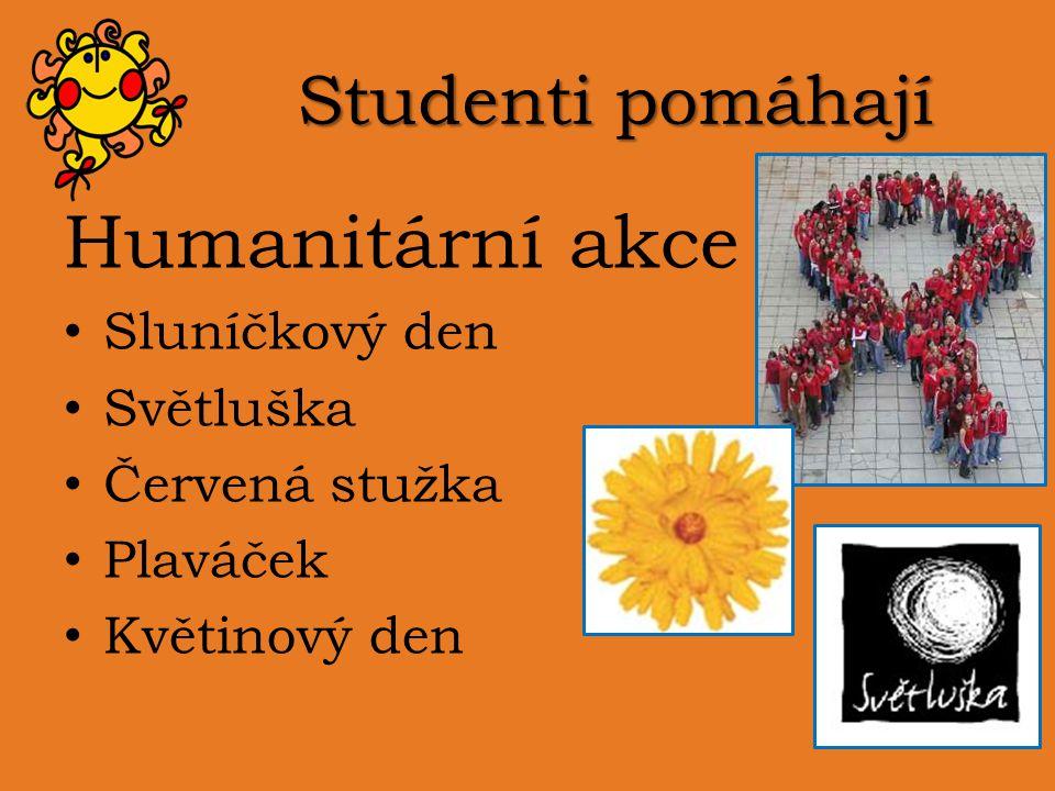 Humanitární akce Studenti pomáhají Sluníčkový den Světluška
