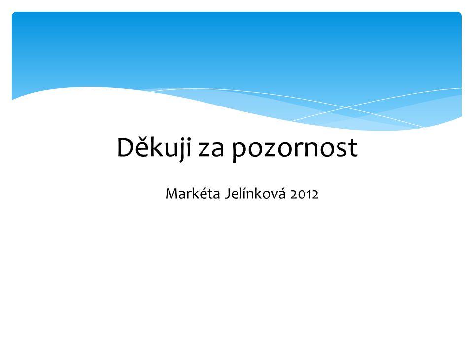 Děkuji za pozornost Markéta Jelínková 2012