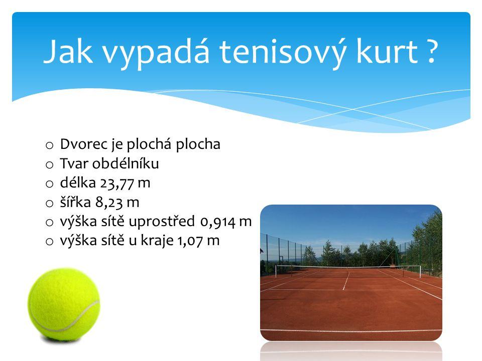 Jak vypadá tenisový kurt
