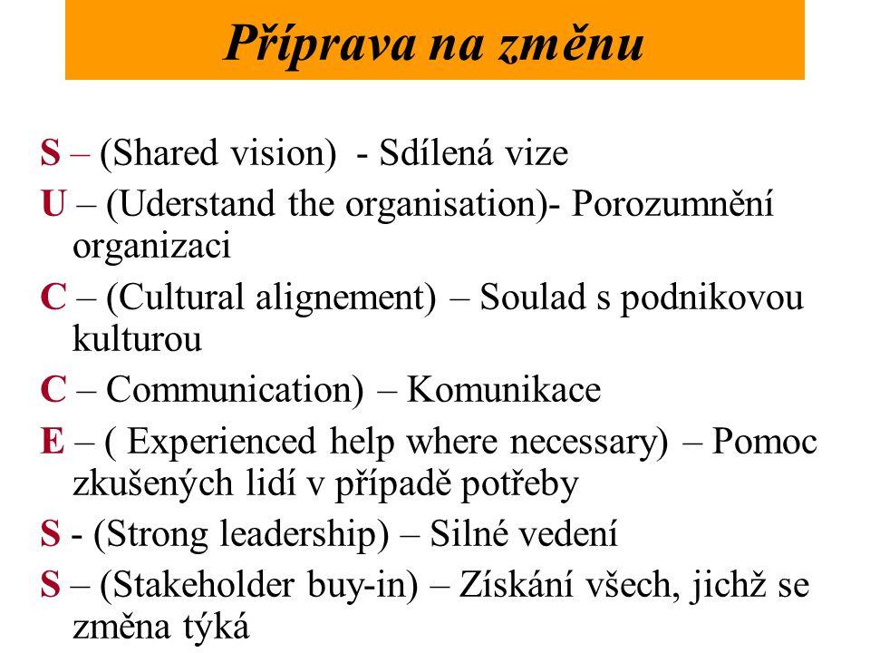 Příprava na změnu S – (Shared vision) - Sdílená vize