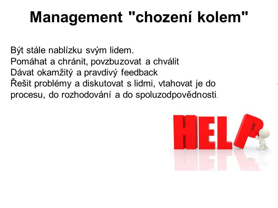 Management chození kolem