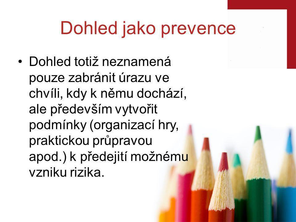 Dohled jako prevence