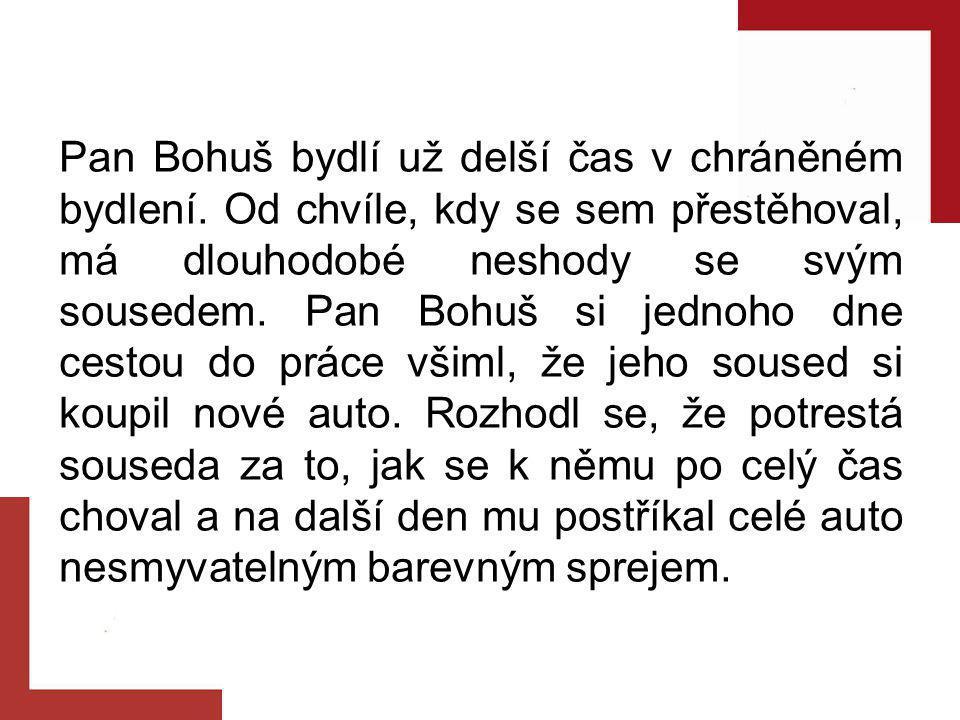 Pan Bohuš bydlí už delší čas v chráněném bydlení