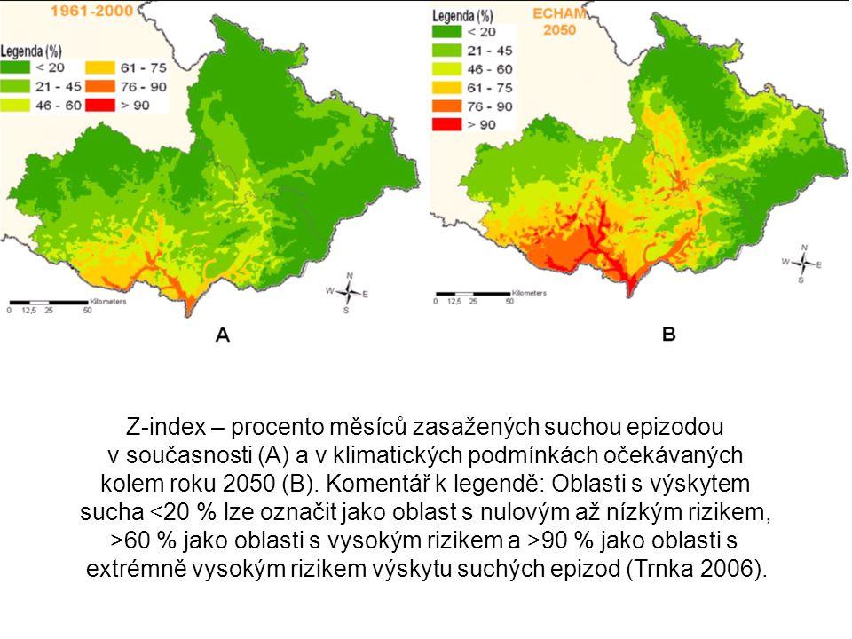Z-index – procento měsíců zasažených suchou epizodou