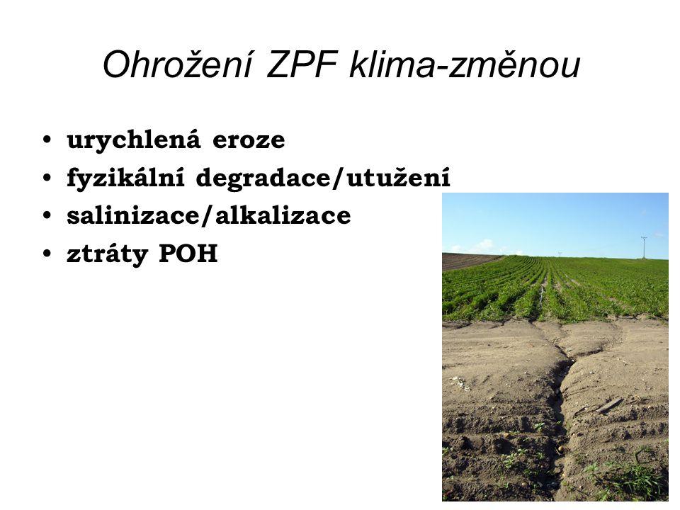 Ohrožení ZPF klima-změnou