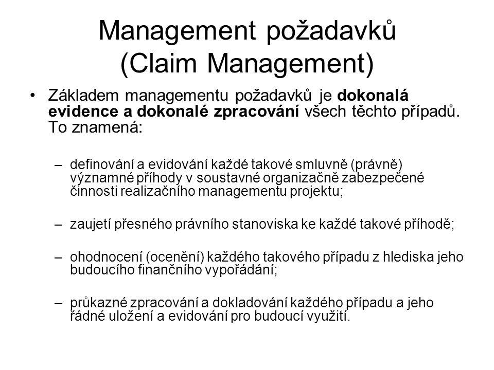 Management požadavků (Claim Management)