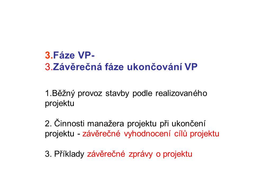 3. Fáze VP- 3. Závěrečná fáze ukončování VP 1