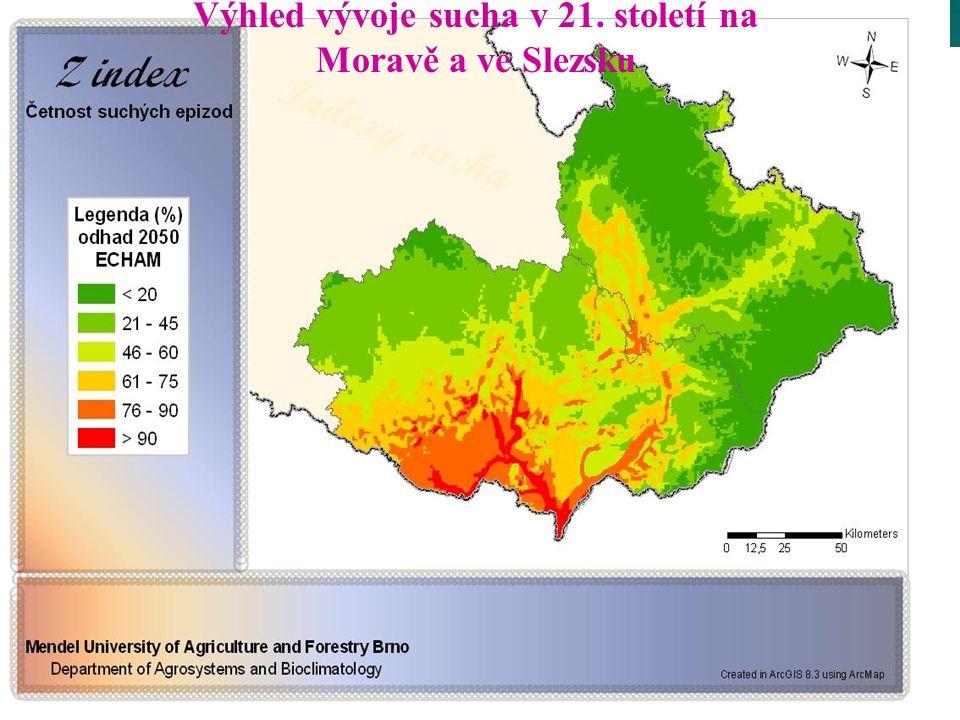 Výhled vývoje sucha v 21. století na