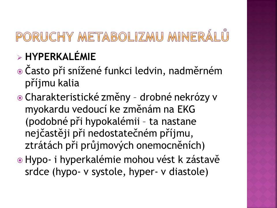 PORUCHY METABOLIZMU MINERÁLŮ