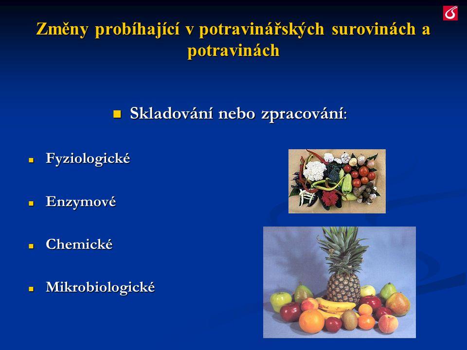 Změny probíhající v potravinářských surovinách a potravinách