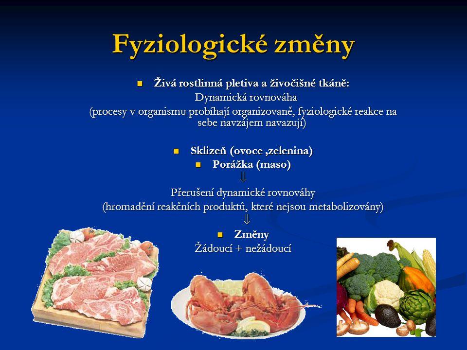 Živá rostlinná pletiva a živočišné tkáně: Sklizeň (ovoce ,zelenina)
