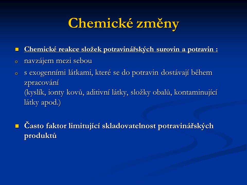 Chemické změny navzájem mezi sebou