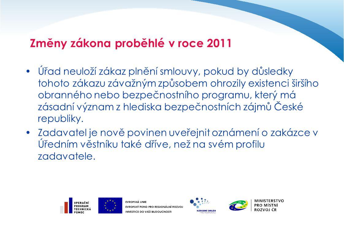 Změny zákona proběhlé v roce 2011