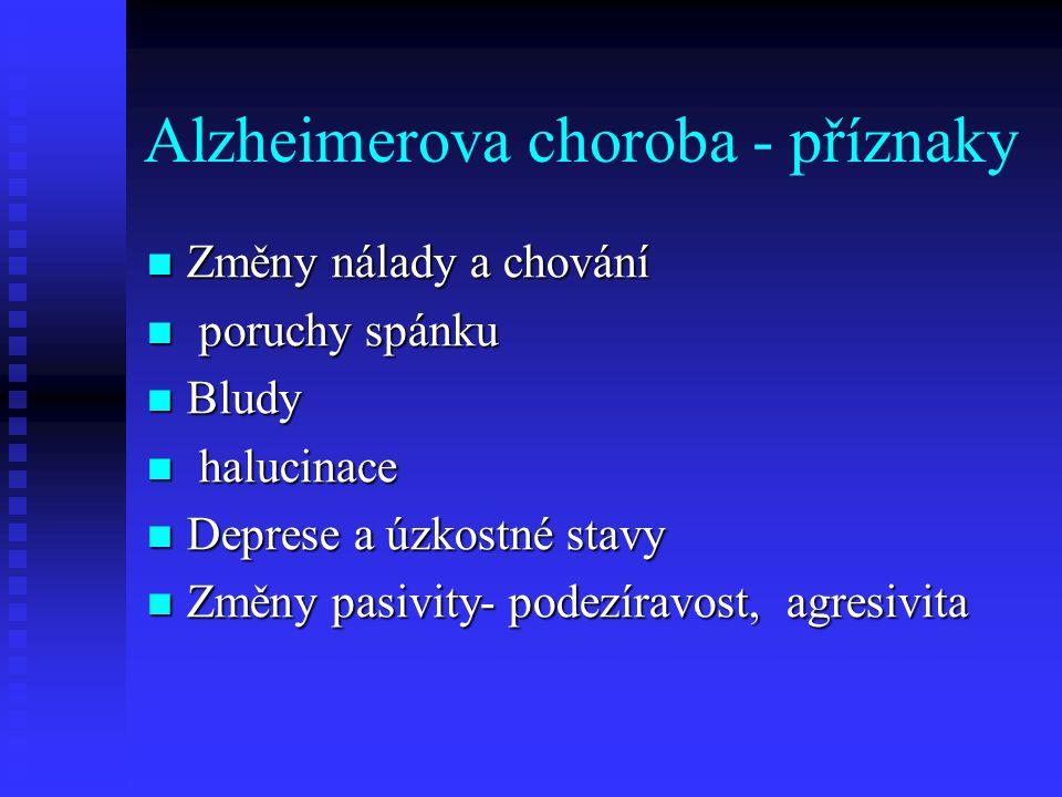 Alzheimerova choroba - příznaky