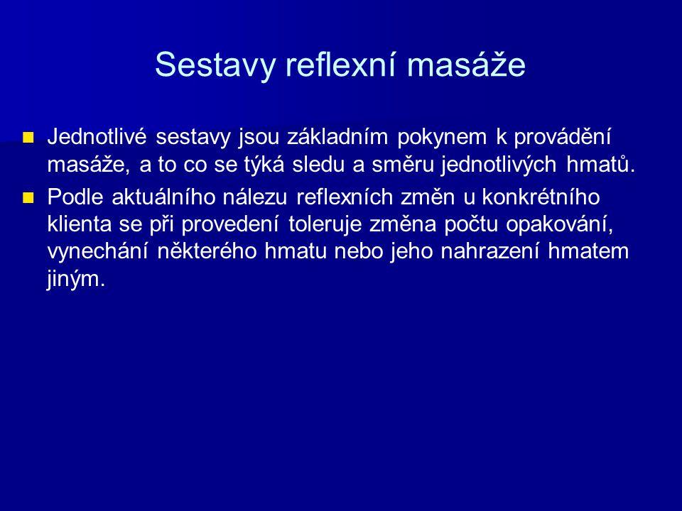 Sestavy reflexní masáže