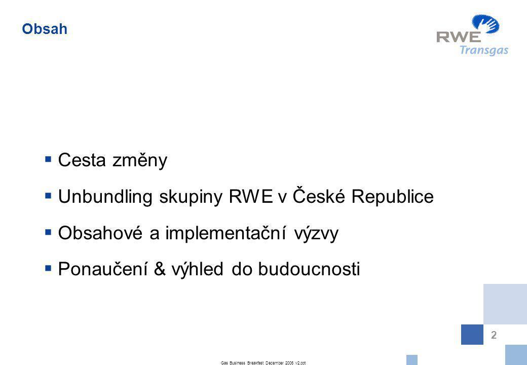 Unbundling skupiny RWE v České Republice