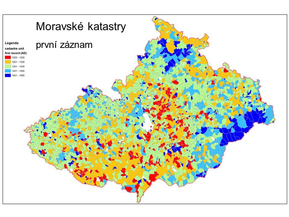 Moravské katastry první záznam