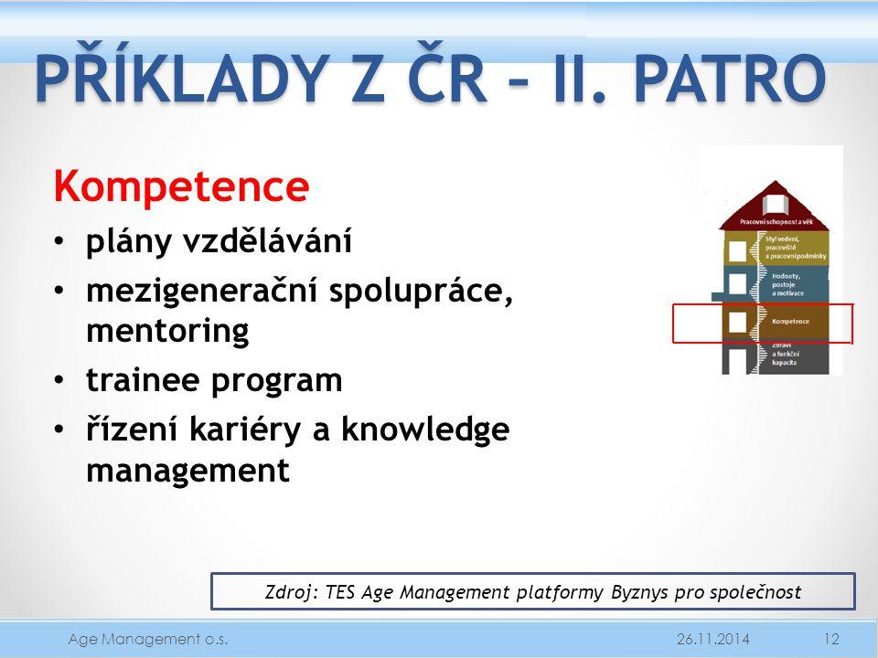 Zdroj: TES Age Management platformy Byznys pro společnost