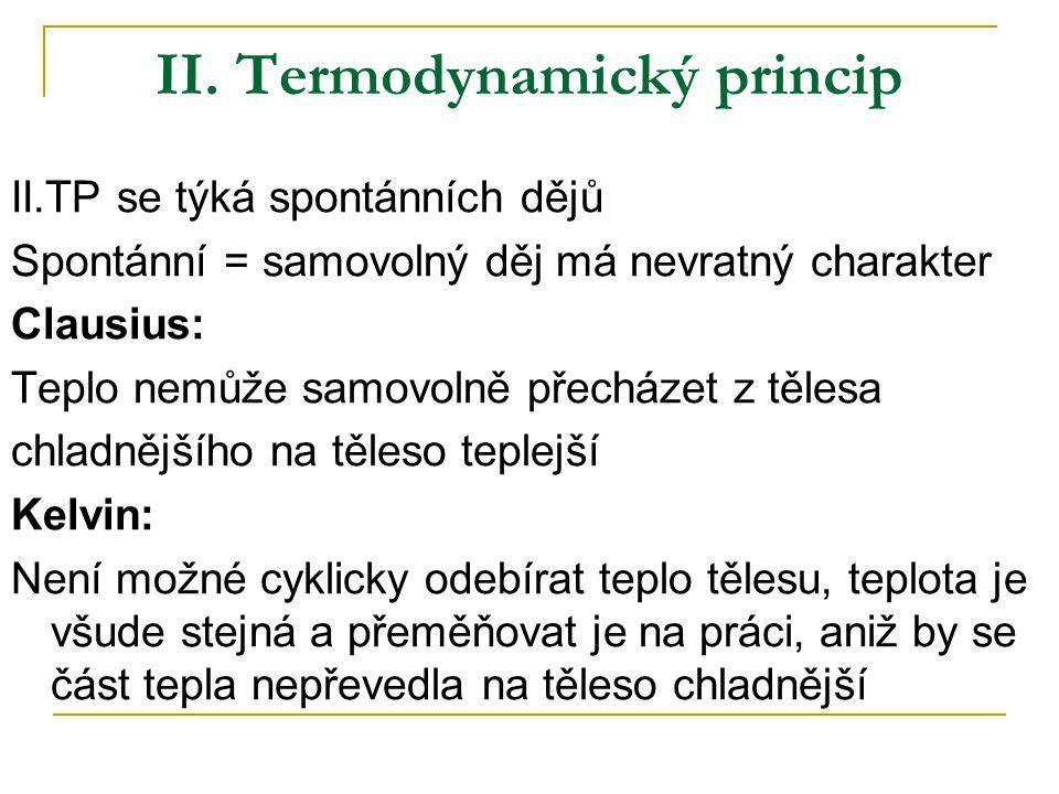 II. Termodynamický princip