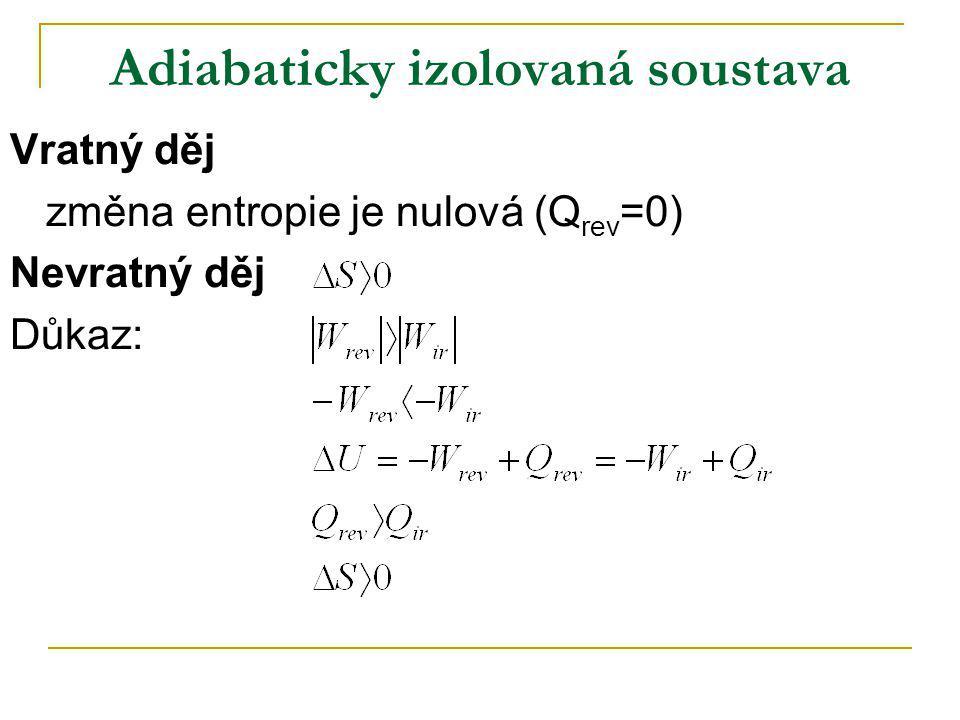 Adiabaticky izolovaná soustava