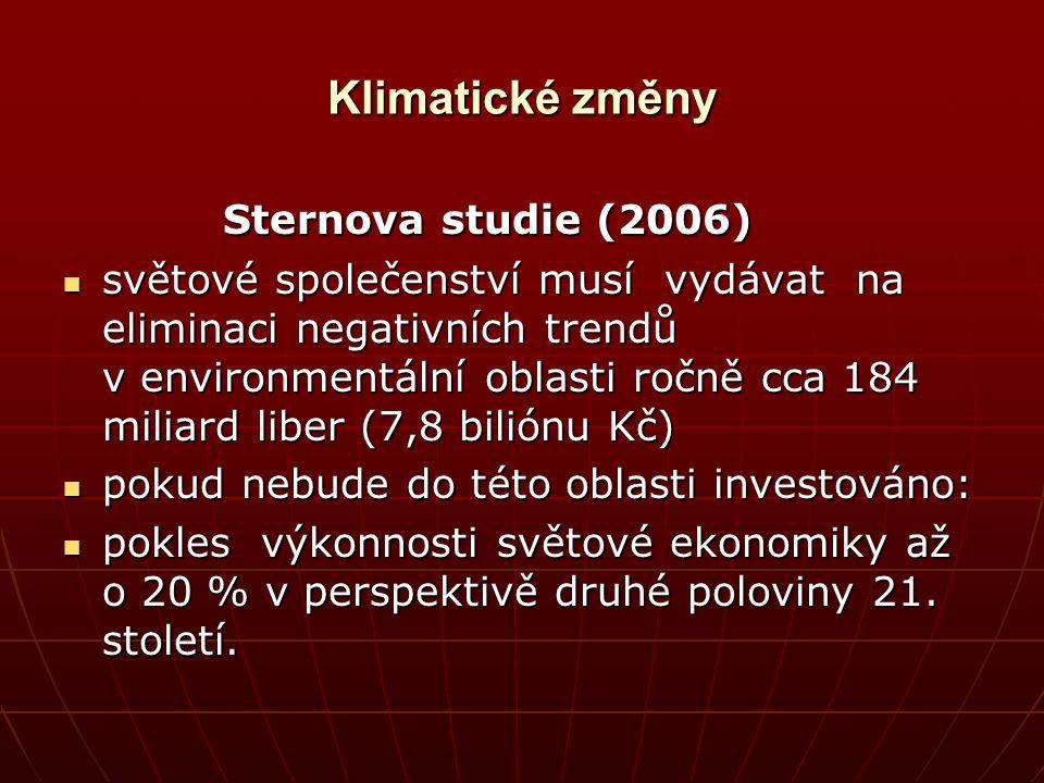 Klimatické změny Sternova studie (2006)