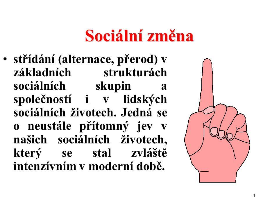 Přdnaška 1 Sociální změna.