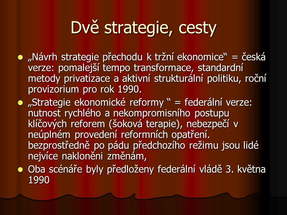 Dvě strategie, cesty