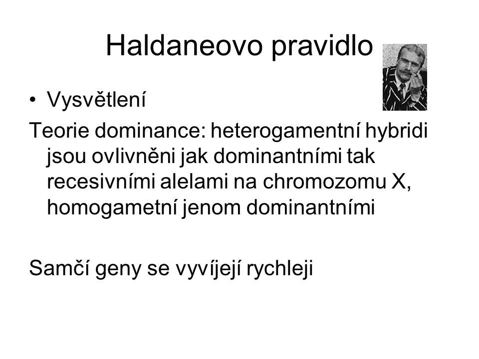 Haldaneovo pravidlo Vysvětlení