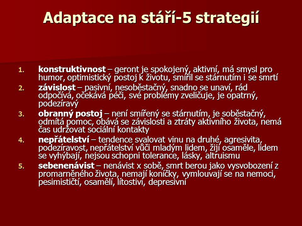 Adaptace na stáří-5 strategií