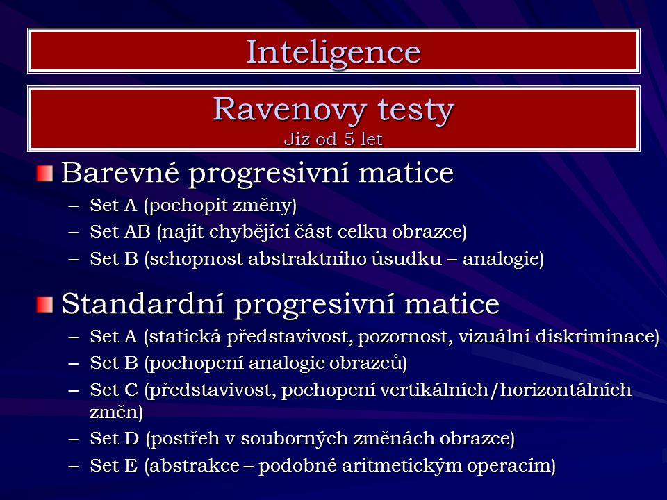 Inteligence Ravenovy testy Barevné progresivní matice