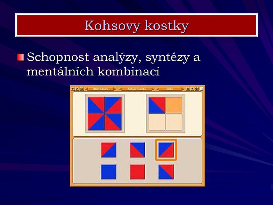 Kohsovy kostky Schopnost analýzy, syntézy a mentálních kombinací