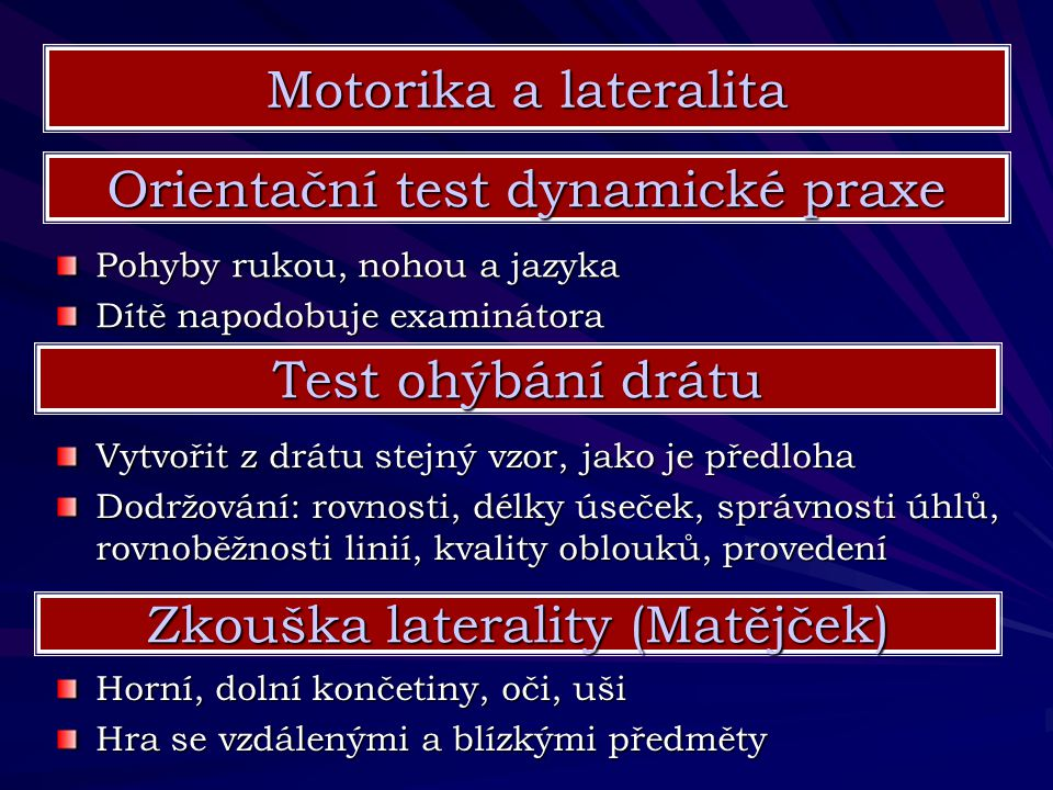 Orientační test dynamické praxe