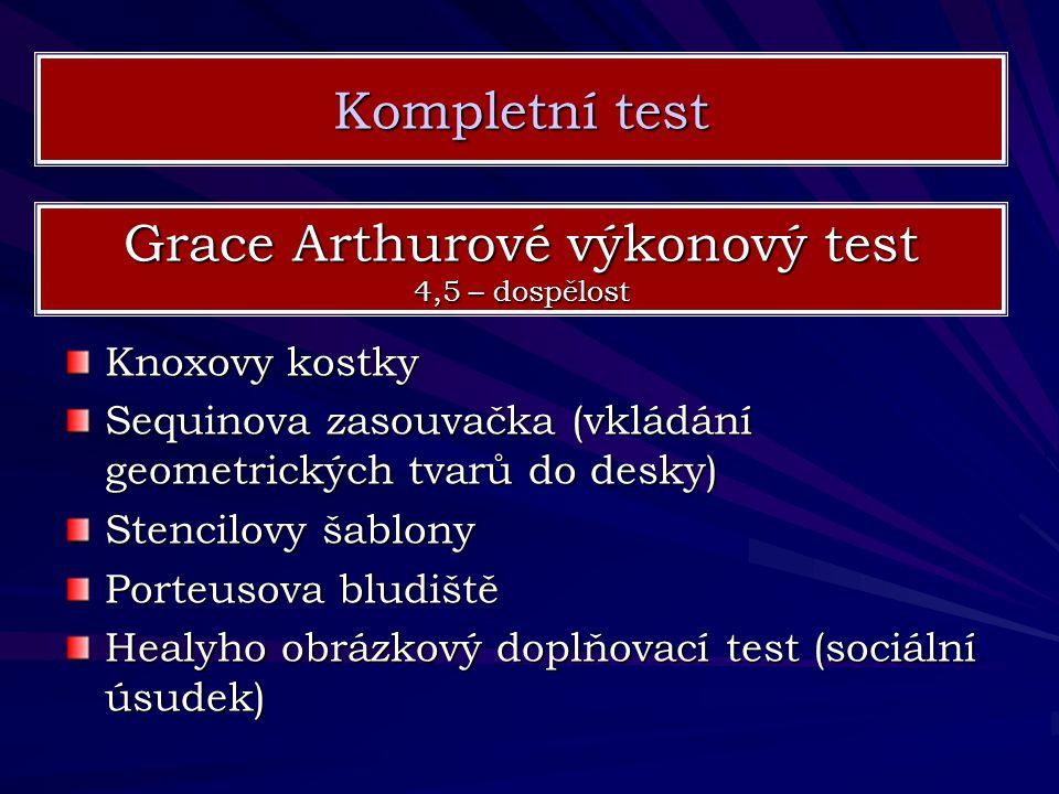 Grace Arthurové výkonový test