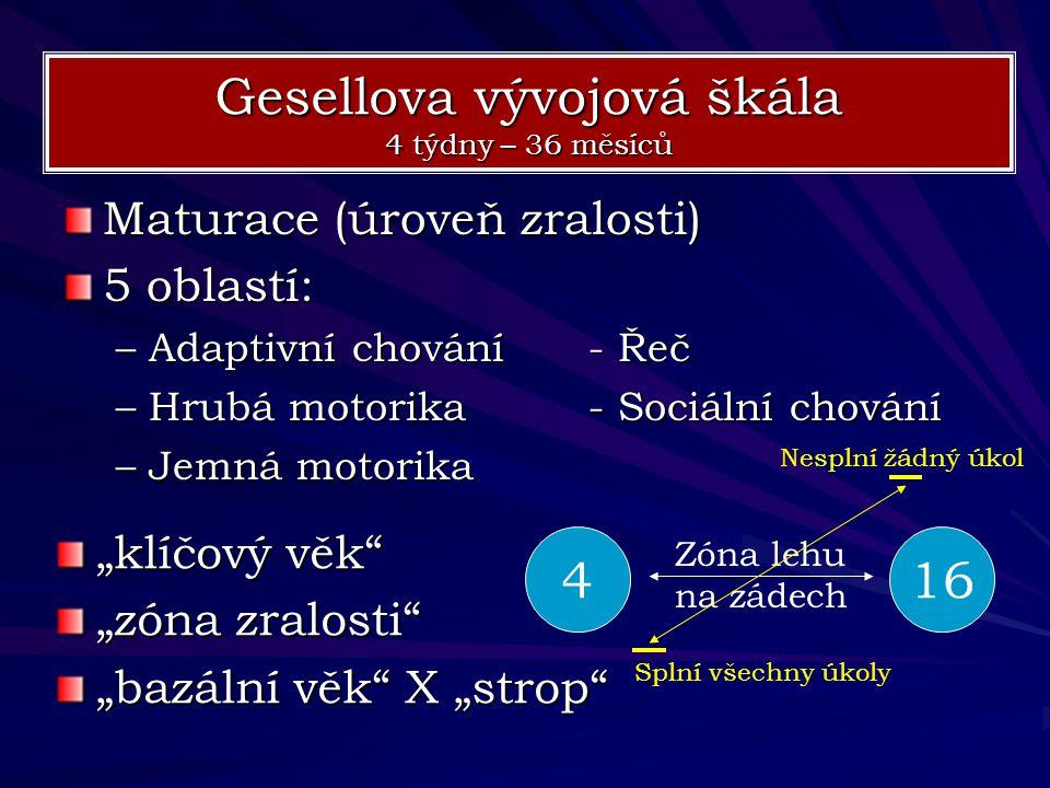 Gesellova vývojová škála