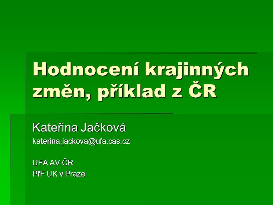Hodnocení krajinných změn, příklad z ČR