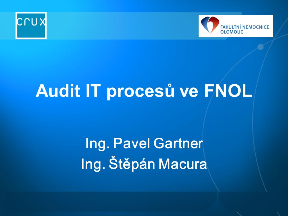 Audit IT procesů ve FNOL