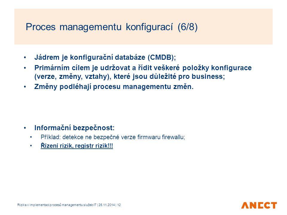 Proces managementu konfigurací (6/8)