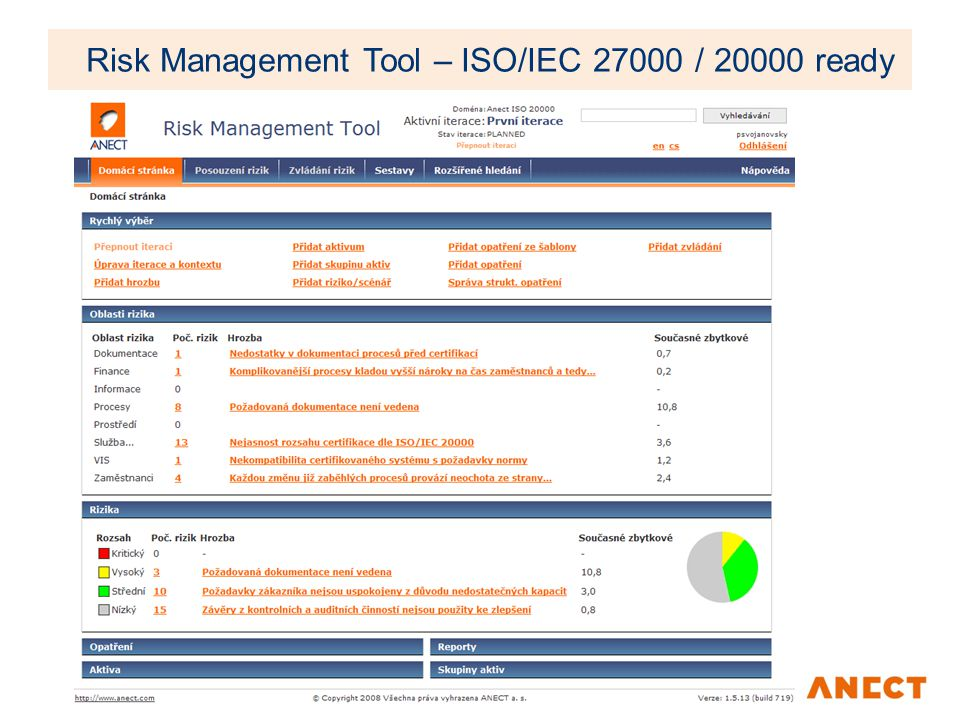 Risk Management Tool – ISO/IEC 27000 / 20000 ready